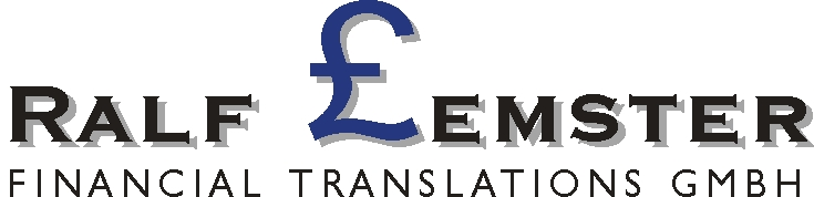 Logo Ralf Lemster Financial Translations